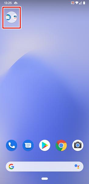 フォルダ内のアプリ2