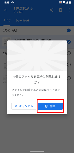 画像やファイルを削除できない11